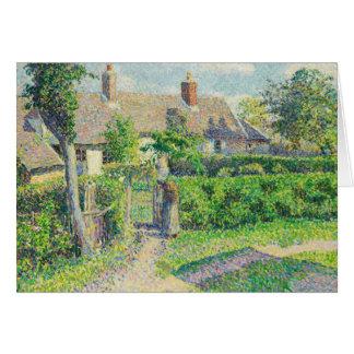 Camille Pissarro - Peasants' houses, Eragny Card