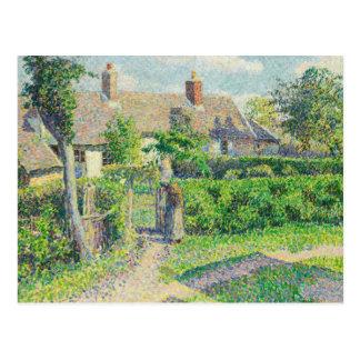 Camille Pissarro - Peasants' houses, Eragny Postcard