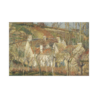 Camille Pissarro - Red Roofs, Corner of a Village Canvas Print
