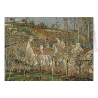 Camille Pissarro - Red Roofs, Corner of a Village Card