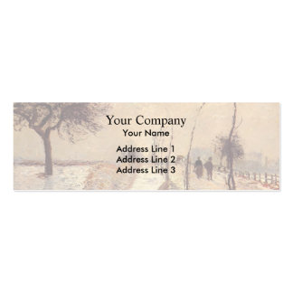Camille Pissarro- Road at Eragny, Winter Business Card Templates