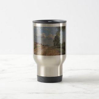 Camille Pissarro - Road to Versailles 1870 oil Mug