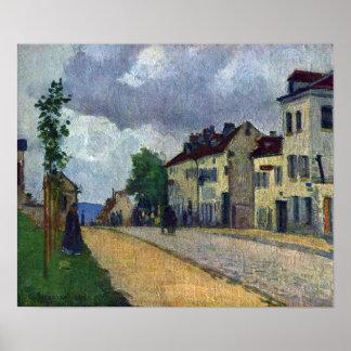 Camille Pissarro - Rue de Gisors Poster