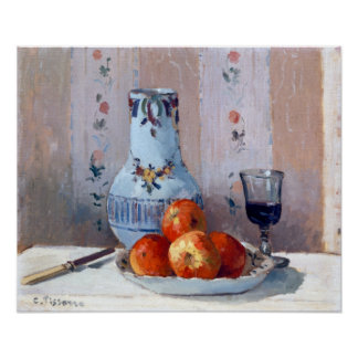 Camille Pissarro Still Life with Apples Pitcher Poster