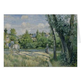 Camille Pissarro - Sunlight on the Road, Pontoise Card