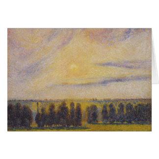 Camille Pissarro - Sunset at Eragny Card