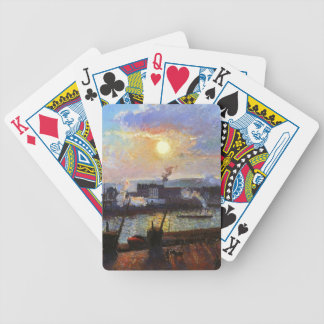 Camille Pissarro- Sunset, Rouen Bicycle Playing Cards