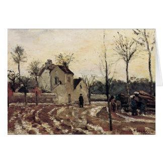 Camille Pissarro- Thaw, Pontoise Card