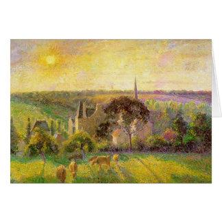 Camille Pissarro- The Church and Farm of Eragny Card