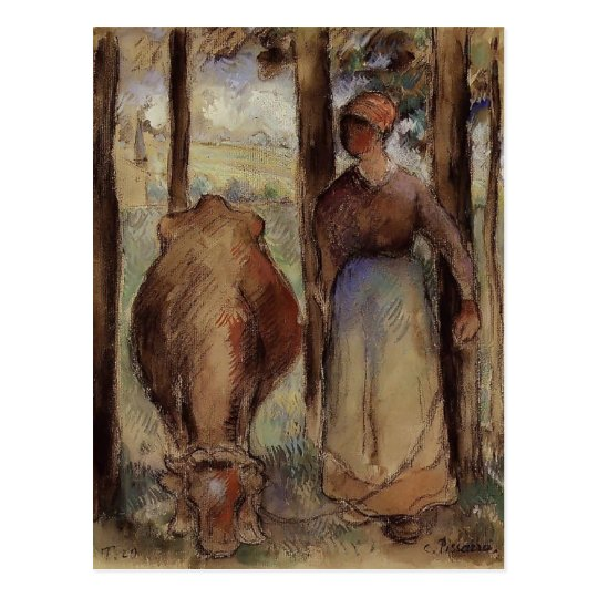 Camille Pissarro: The Cowherd Postcard