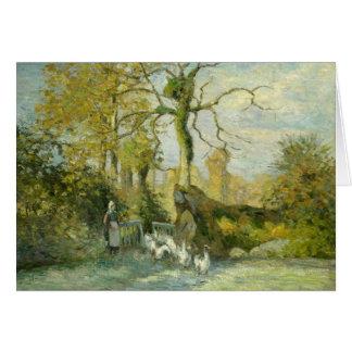 Camille Pissarro - The Goose Girl at Montfoucault Card