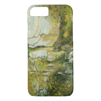 Camille Pissarro - The Goose Girl at Montfoucault iPhone 7 Case