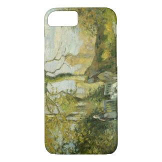 Camille Pissarro - The Goose Girl at Montfoucault iPhone 7 Case