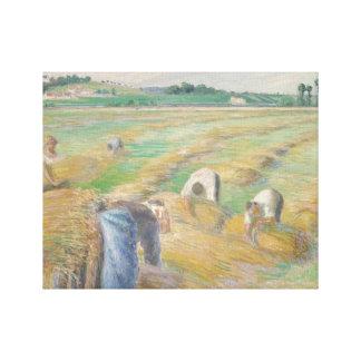 Camille Pissarro - The Harvest Canvas Print