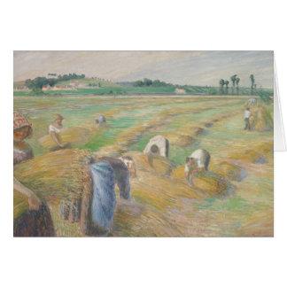 Camille Pissarro - The Harvest Card