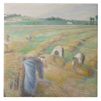 Camille Pissarro - The Harvest Ceramic Tile