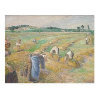 Camille Pissarro - The Harvest Postcard