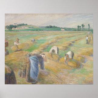 Camille Pissarro - The Harvest Poster