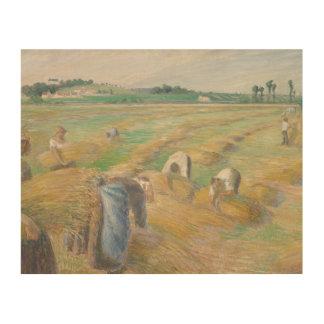 Camille Pissarro - The Harvest Wood Prints