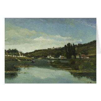 Camille Pissarro - The Marne at Chennevieres Card