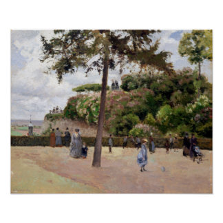 Camille Pissarro The Public Garden at Pontoise Poster