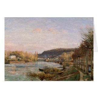 Camille Pissarro - The Seine at Bougival Card