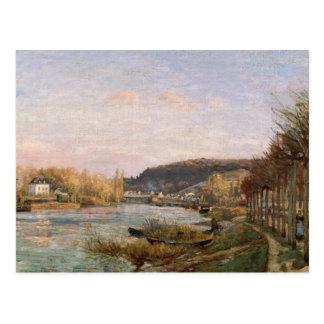 Camille Pissarro - The Seine at Bougival Postcard