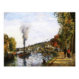 Camille Pissarro- The Seine at Marly Postcard