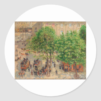 Camille Pissarro Theatre French Place 1898 Spring Stickers