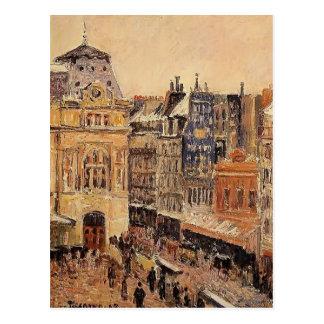 Camille Pissarro- View of Paris, Rue d'Amsterdam Postcard