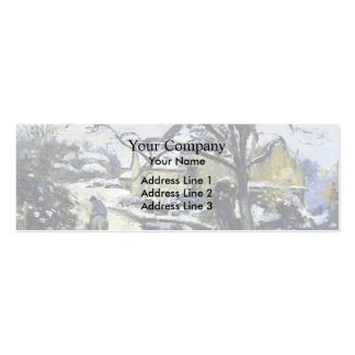 Camille Pissarro- Winter at Montfoucault 2 Business Card Template