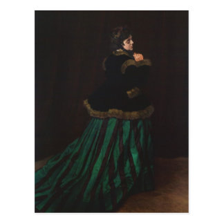 Camille (Woman in the Green Dress) by Claude Monet Postcard