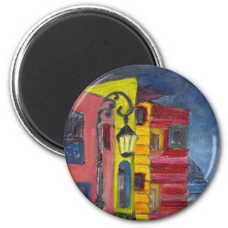 Caminito-La Boca 2 Inch Round Magnet
