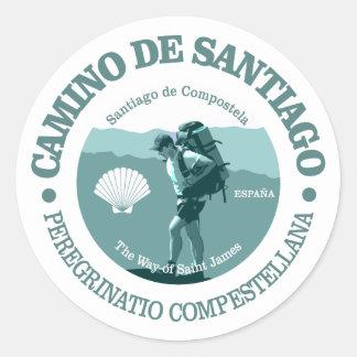 Camino de Santiago Classic Round Sticker