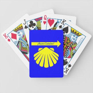 Camino de Santiago Symbols Bicycle Playing Cards