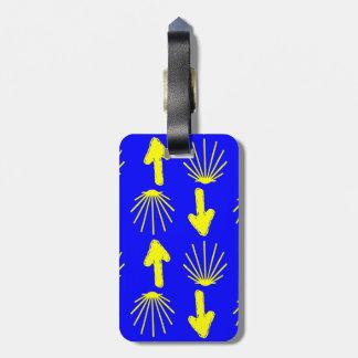 Camino de Santiago Symbols Luggage Tag