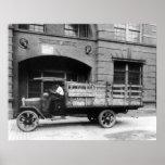Camion antique de bière, les années 1920 affiches
