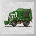 Camion de déchets mignon de camion à ordures posters