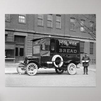 Camion de livraison de boulangerie, 1923. Photo Poster