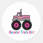 Camion de monstre adhésif rond