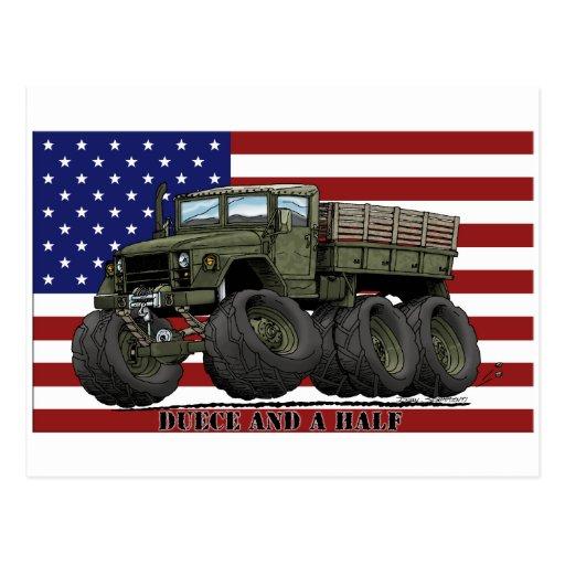camion de tonne de 6x6 M35 2-1/2 Carte Postale