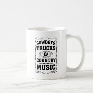 Camions et musique country de cowboys tasse à café