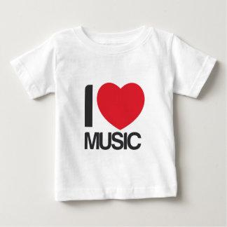 Camiseta I love music bebe Baby T-Shirt