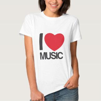 camiseta mujer I love music blanca Shirts