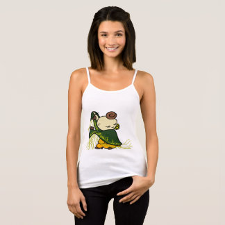 Camisole deflection child green tank top