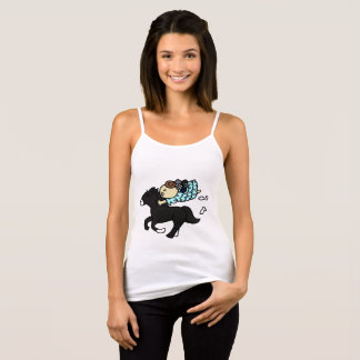 Camisole hippopotamus child black tank top