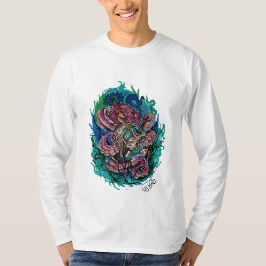 Camista drawn Skull the hand T-Shirt