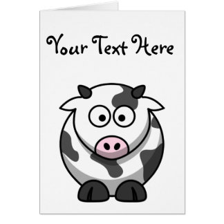 Cammy the Cute Cartoon Cow Card