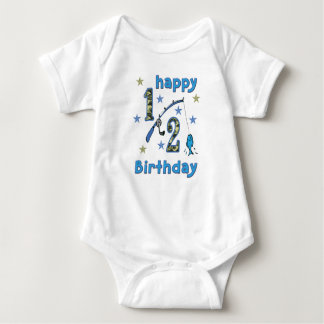 Camo 1/2 Birthday Fishing Jumper Baby Bodysuit