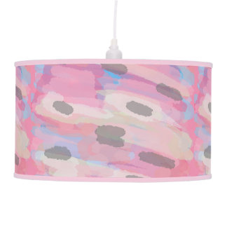 Camo Abstract Pink Pattern Pendant Lamp